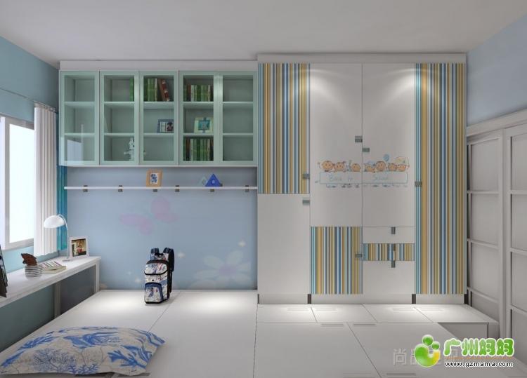 故事 环保 进行时/侧看儿童房(图中吊趟门以后是全磨砂玻璃并且有彩色喜羊羊的...
