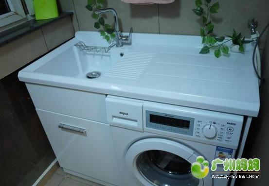 尚品/和次卧相连的生活小阳台,放了洗衣机